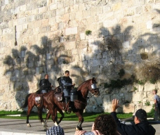 IDF on Horseback near Jaffa Gate in Jerusalem