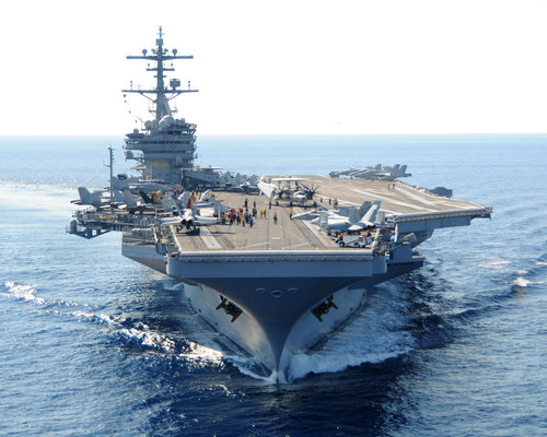 The USS George H W Bush aircraft carrier. Credit: U.S. Navy.