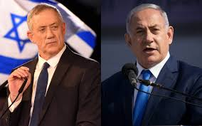 Image result for netanyahu gantz
