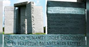 Georgia Guidestones, a monument with post-apocalyptic message